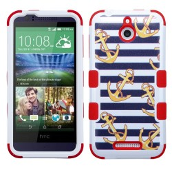 Funda Protector Triple Layer HTC One Desire 510 512 Blanco / Anclas