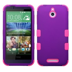 Funda Protector Triple Layer HTC One Desire 510 512 Morado / Rosa
