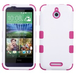 Funda Protector Triple Layer HTC One Desire 510 512 Blanco / Rosa