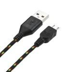 Cable Forro Tela 1.8m Micro USB Negro (17004349) by www.tiendakimerex.com