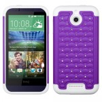 Funda Protector HTC One Desire 510 Mixto Blanco Morado Brillitos (17004401) by www.tiendakimerex.com