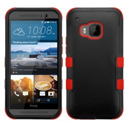 Funda Protector Triple Layer HTC One M9 Negro / Rojo