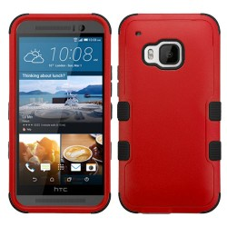 Funda Protector Triple Layer HTC One M9 Rojo / Negro