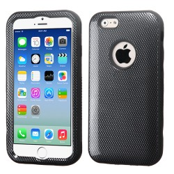 Funda Protector Apple Iphone 6 Mixto Negro Carbon Triple Layer