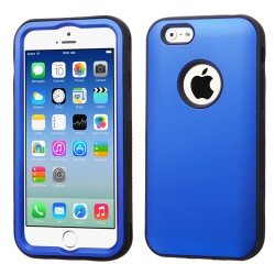 Funda Protector Apple Iphone 6 Mixto Azul Titanium Triple Layer