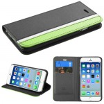 Funda Cartera Apple Iphone 6 Negro Franja Verde (17003984) by www.tiendakimerex.com