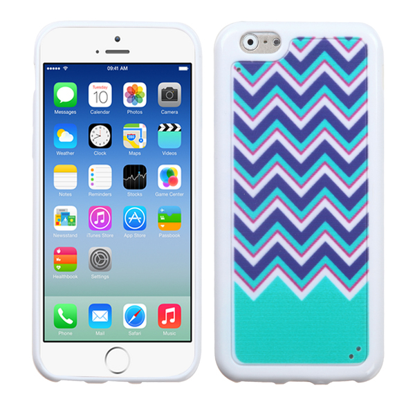 Funda Protector TPU Apple Iphone 6 Ziggy Zag Verde (17004445) by www.tiendakimerex.com