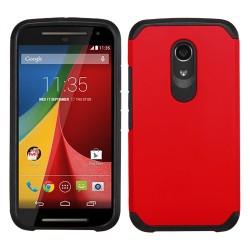 Funda Protector Mixto Motorola Moto G 2da Gen Rojo / Negro