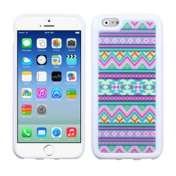 Funda Protector TPU  Iphone 6 Ziggy Zag Lila