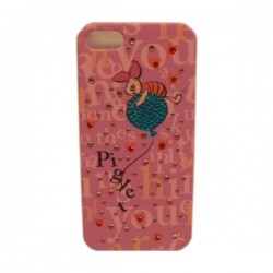 Funda Protector Mobo  iPhone 5G/5S Piglet Rosa/Brillitos