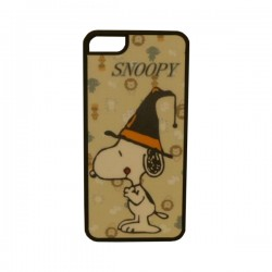 Funda Protector Apple Iphone 5/5S Snoopy/Sombrero Negro