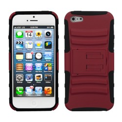 Funda Protector Guinda Mixto con Pie Iphone 5