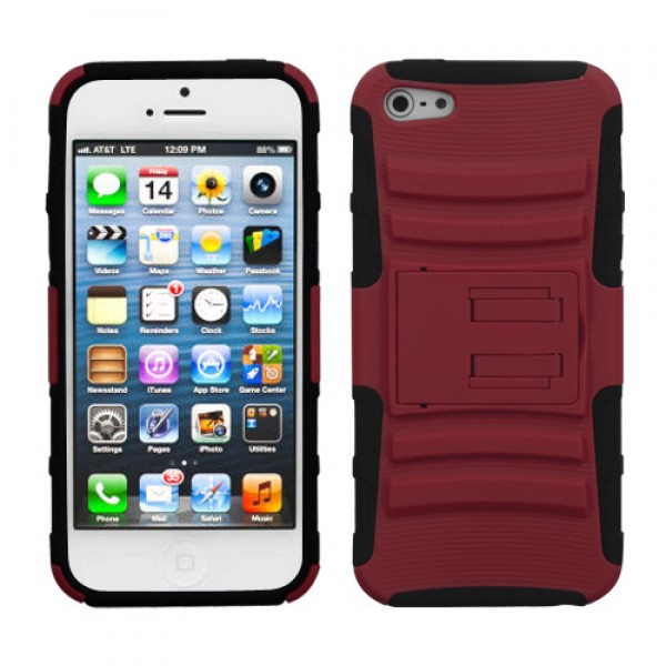Funda Protector Guinda Mixto con Pie Iphone 5 (17001872) by www.tiendakimerex.com