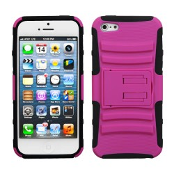 Funda Protector Rosa Mixto con Pie Iphone 5