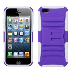 Funda Protector Morado Mixto con Pie Iphone 5
