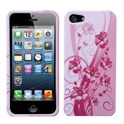 Protector Iphone 5 Blanco con Rosas 2