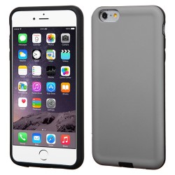 Funda Protector Mixto  Iphone 6 Plus Gris / Negro