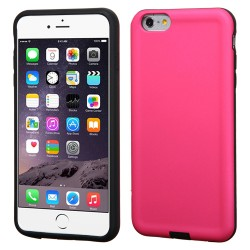 Funda Protector Mixto  Iphone 6 Plus Fiusha /  Rosa