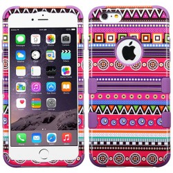 Funda Protector Triple Layer Apple Iphone 6 plus Morado Figuras