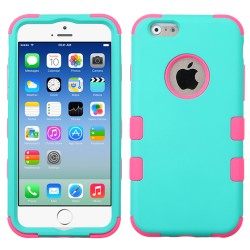 Funda Protector Triple Layer Uso Rudo Iphone 6 Aqua / Fucsia