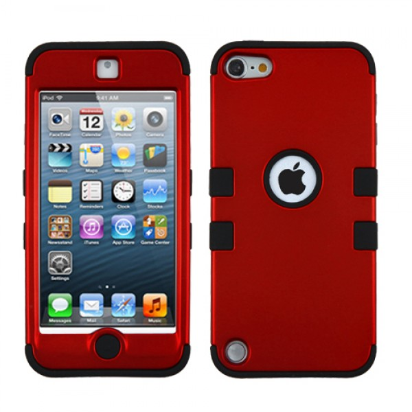 Funda Protector Triple Layer Apple Ipod Touch 5G / 6G Rojo Titanium / Negro (17004570) by www.tiendakimerex.com