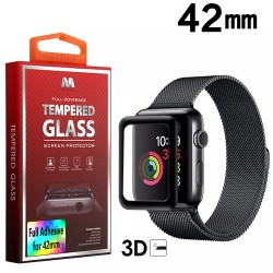 Protector LCD Cristal templado Negro Watch 42 Serie 3
