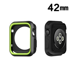 Protector Apple 42 mm Watch Serie 3 Silicon Verde Negro
