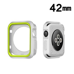 Protector Apple 42 mm Watch Serie 3 Silicon Verde Blanco