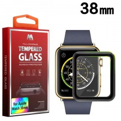 Protector LCD Cristal templado Negro Watch 38 Serie 3