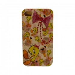 Funda Protector Mobo Apple Iphone 4 / 4G Piolin / Moño Rosa