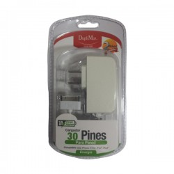 Cargador De Pared Con Cable 30 Pines 1A Duplimax Blanco