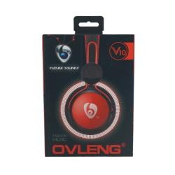 Audífonos Manos Libres Cable Circular Headphones  V10 Negro / Azul