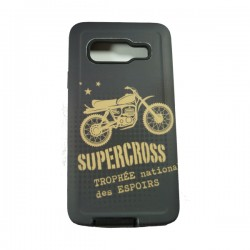 Funda Protector Mixto Samsung Galaxy A3 Supercross Gris