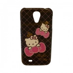 Funda Protector Mobo Kitty Samsung Galaxy S4 Negro Moño Brillitos