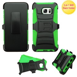 Funda Clip Galaxy S6 Edge Plus Negro / Verde C/pie