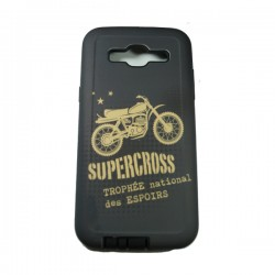 Funda Protector Mixto Samsung Galaxy J5 Supercross Gris
