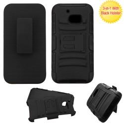 Clip Dual Mixto HTC 10 Negro c/pie