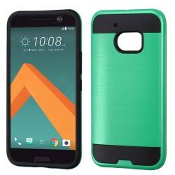 Funda Protector Mixto HTC 10 Verde Metalico
