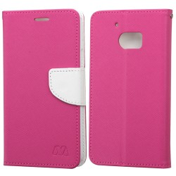 Funda Cartera HTC 10 Rosa / Blanco c/broche