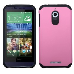 Funda Protector Mixto HTC Desire 510 512 One Rosa / Negro