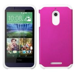 Funda Protector Mixto HTC Desire 510 512 Rosa / Blanco