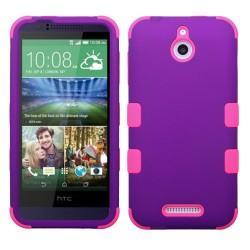 Funda Protector Triple Layer HTC One Desire 510 512 Morado / Rosa