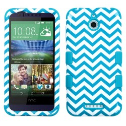 Funda Protector Triple Layer  HTC One  Desire 510 512 Blanco / Aqua Zic Zac