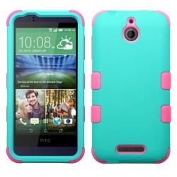 Funda Protector Triple Layer HTC Desire 510 512 512  Aqua / Rosa