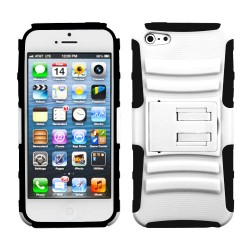 Funda Protector Blanco Mixto con Pie Iphone 5