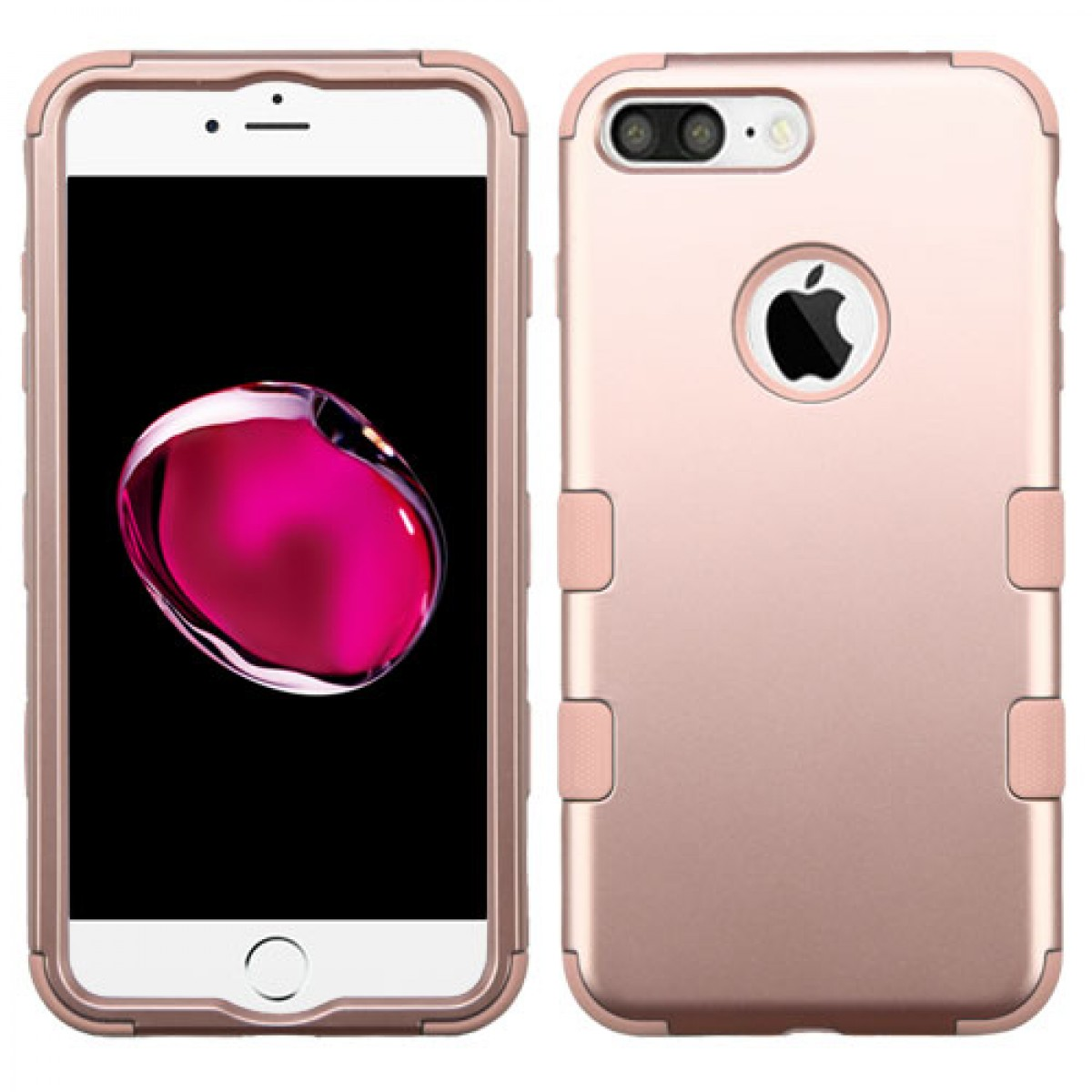 40835b66ce2 Funda Protector Iphone 7 Plus Oro Rosado Triple Layer