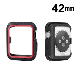 Protector Apple 42 mm Watch Serie 3 Silicon Negro Rojo