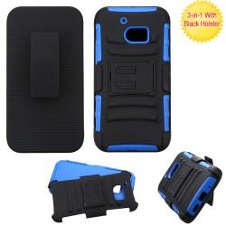 Clip Dual Mixto HTC 10 Negro / Azul c/pie